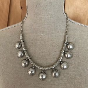 Silver statement necklace from Turkey